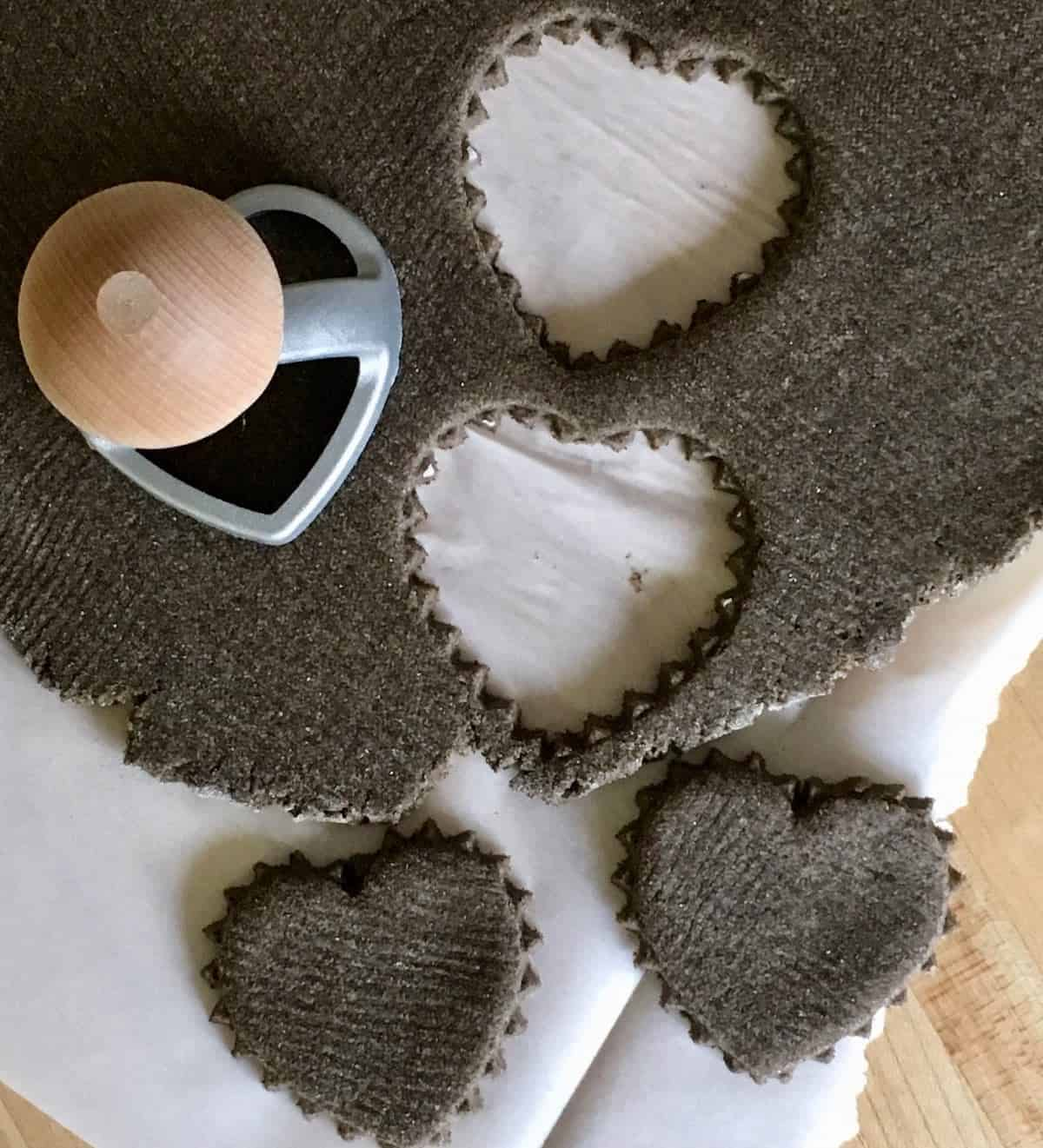 cutting out dog biscuits