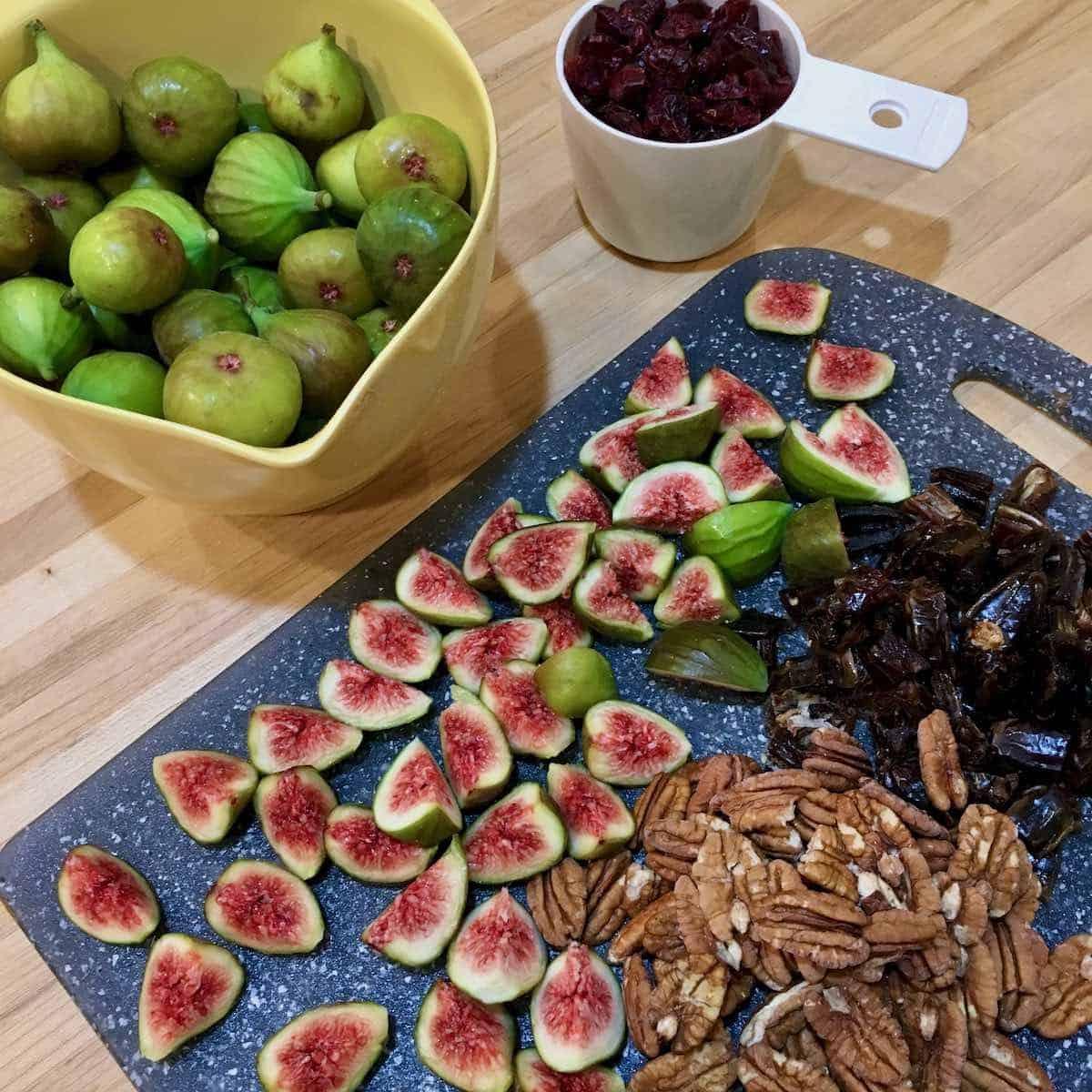 figs, dates, pecans