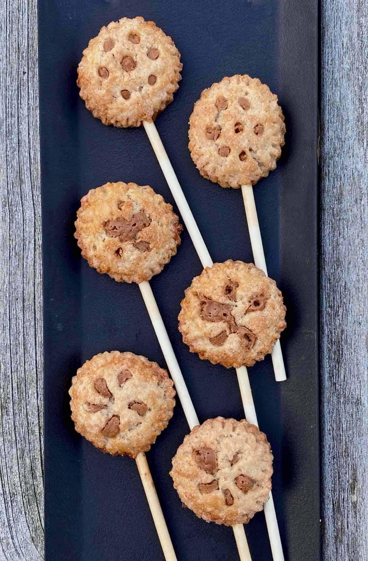 tray of sweetest little cookie pops