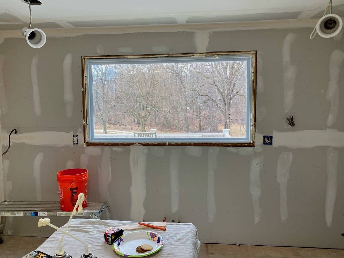 can't wait to cook fresh clam pasta by the light of this new kitchen window