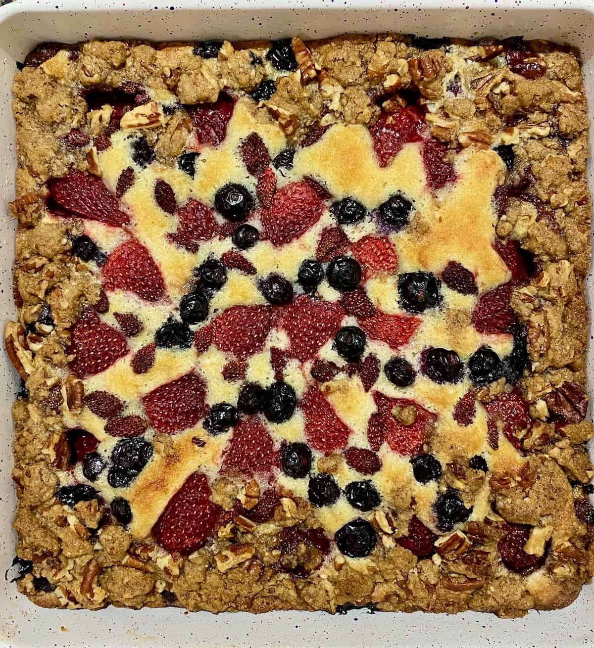 summer berry brunch cake with streusel